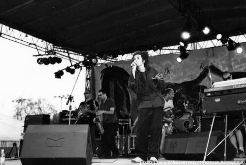 The young Alborosie performing at Rototom Sunsplash 1998
